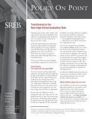 On Point: legrep5.qxd.qxd - Southern Regional Education Board