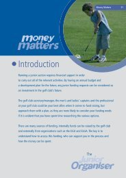 Junior Organisers Handbook: Money Matters - England Golf