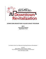 Downtown Facade Grant program details and ... - City of Brantford