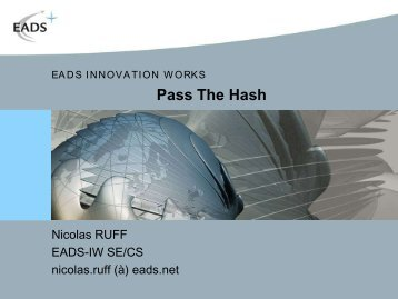 Pass The Hash Toolkit 1.3 - OSSIR