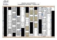 Calendrier AP 1ère - 2012-2013