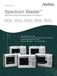 Spectrum Master MS272xC Product Brochure
