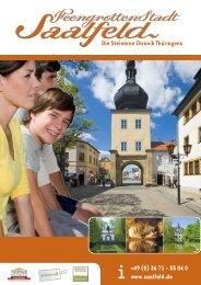 (0) 36 71 - 55 04 0 www.saalfeld.de Die Steinerne Chronik Thüringens