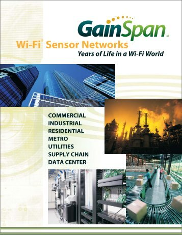 GainSpan Brochure 071026.pdf - Silicon Valley Technical Marketing ...