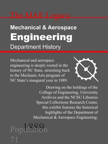 distinguished history - Department of Mechanical and Aerospace ...