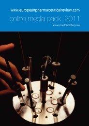 online media pack 2011 - European Pharmaceutical Review