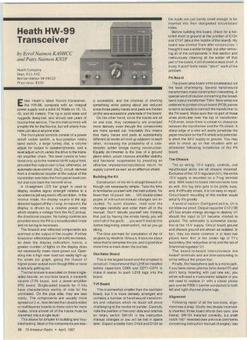 Novice Rig - Heath HW-99 Transceiver - Nostalgic Kits Central