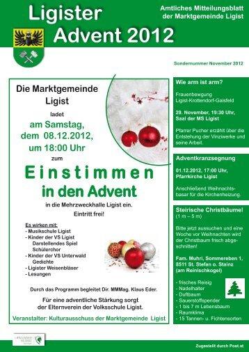 Sondernummer November 2012 - Ligist