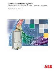 ABB General Machinery Drive - Steinmetz-Schleiftechnik