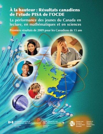 À la hauteur : Résultats canadiens del'étude PISA de l'OCDE