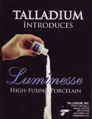 Promotional Leaflet - Talladium UK