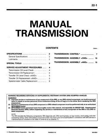 workshop manual colt lancer lil evo rh yumpu com Workshop Manuals Oilfield Well Testing mitsubishi evo 3 workshop manual