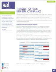 Technology for Anti-Bribery - Acl.com