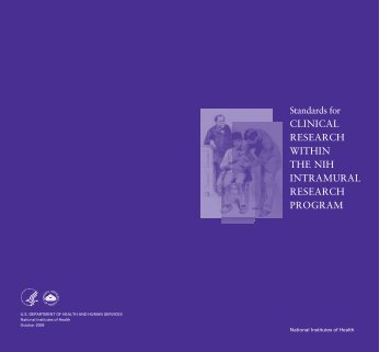 Standards for Clinical Research Within the NIH Intramural Research ...