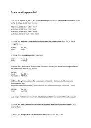 Programmheft (PDF) - Solidarische Ökonomie
