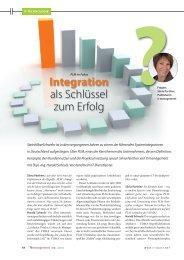 Integration als Schlüssel zum Erfolg - SteinhilberSchwehr