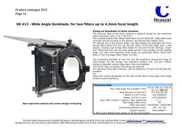 Product catalogue 2012 Page 14 SD 412 –Wide ... - Video Cine Import