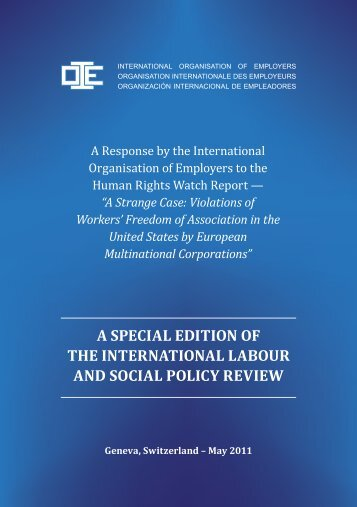 [PDF] A Response by the International Organisation of Employers to ...