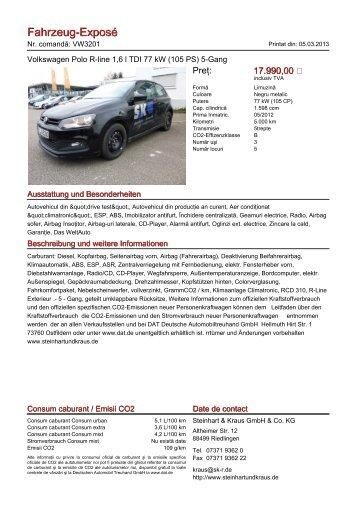 Fahrzeug-Exposé - Autohaus Steinhart & Kraus