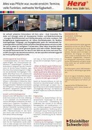 siehe Anwenderbericht (PDF) - SteinhilberSchwehr