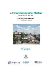 7. Immundiagnostisches Meeting - (GFID) eV