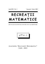 Revista (format .pdf, 2.3 MB) - RECREAÅ¢II MATEMATICE