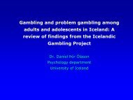 Gambling and problem gambling among adults and adolescents in ...