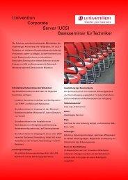 Univention Corporate Server (UCS) Basisseminar für Techniker