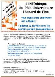 Voir le flyer - Pôle Universitaire Léonard de Vinci
