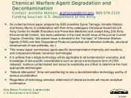 Chemical Warfare Agent Degradation and Decontamination