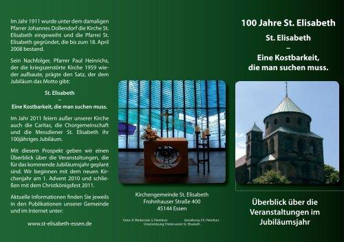 100 Jahre St. Elisabeth - Katholische Pfarrgemeinde St. Elisabeth ...