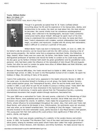 Yeats - pdf