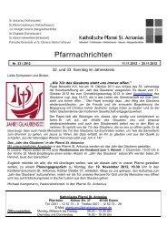 Informationen aus der Gemeinde St. Elisabeth - Katholische ...