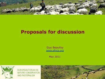 Proposals for discussion.