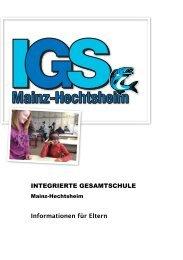Elterninfo 2013-14 - IGS Mainz-Hechtsheim