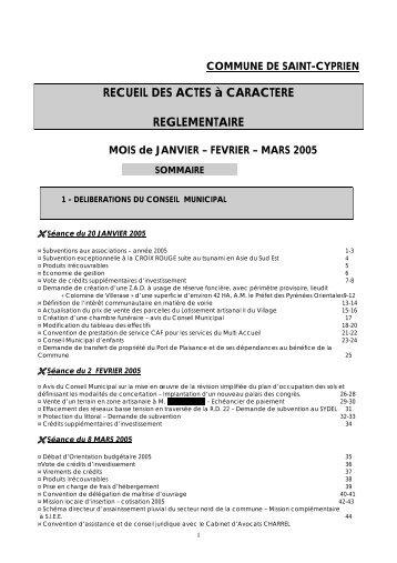 COMMUNE DE SAINT-CYPRIEN RECUEIL DES ACTES à ...