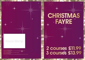 Christmas Fayre - Marston's Taverns