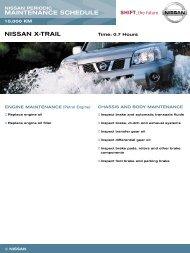 MAINTENANCE SCHEDULE NISSAN X-TRAIL - Australian Nissan ...