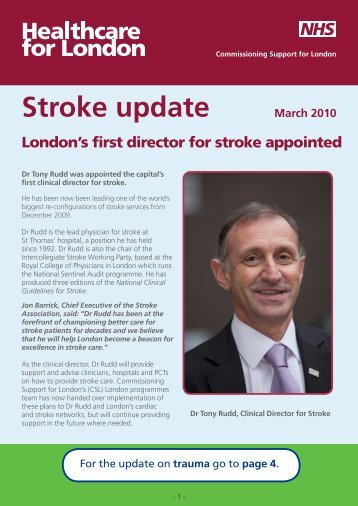 Stroke News: March 2010 - London Health Programmes