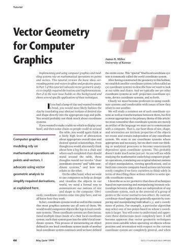 Vector Geometry for Computer Graphics - The University of Kansas