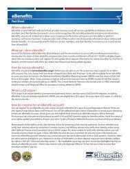 eBenefits Fact Sheet