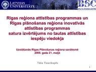 Rīgas reģiona attīstības programmas un Rīgas plānošanas reģiona ...