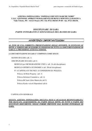 DISCIPLINARE DI GARA PARTE INTEGRANTE E ... - Fare