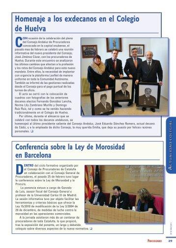 Homenaje a los exdecanos en el Colegio de Huelva - Consejo ...