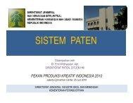 SISTEM PATEN - Indonesia Kreatif