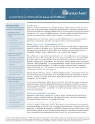 Customized Benchmarks for Insurance Portfolios - Western Asset