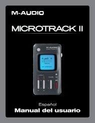 Manual del usuario | MicroTrack II - M-Audio