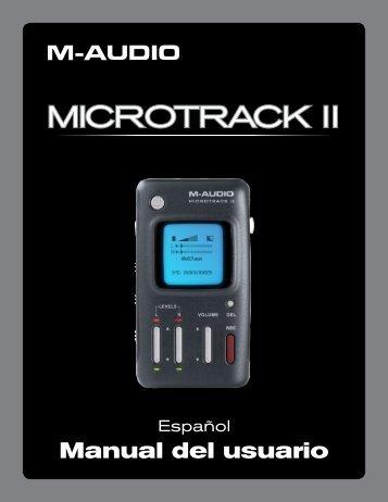 Manual del usuario | MicroTrack II - M-Audio