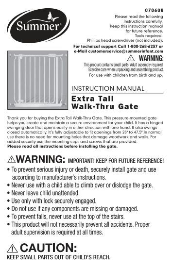 07067 Sure And Secure Extra Tall Walk Thru Gate Summer