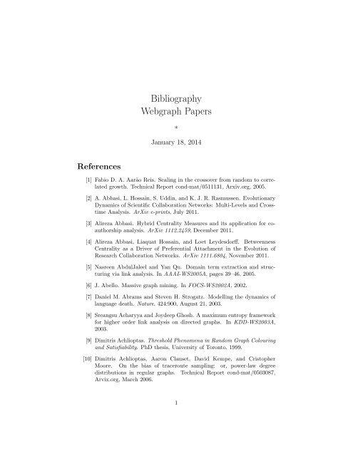 bibliography webgraph papers clair university of michigan